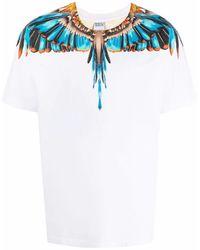 Marcelo Burlon T-Shirt mit Flügel-Print - Weiß