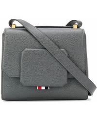 Thom Browne Leather Shoulder Bag - Grey