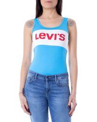 Levi's Light Blue Cotton Bodysuit