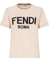 Fendi Cotton T-shirt - Pink