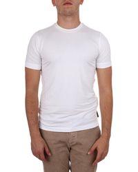 Emporio Armani - White Viscose T-shirt - Lyst