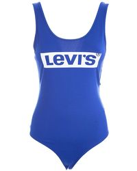 Levi's Logo Print Tank Top - Blue