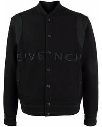 Givenchy Bomberjacke mit Logo-Stickerei - Schwarz