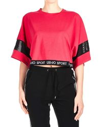 Liu Jo Pink Cotton T-shirt