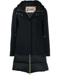 Herno Black Polyamide Outerwear Jacket