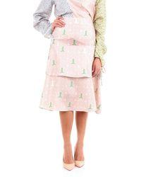 Lanvin Silk Skirt - Pink