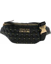 Versace Jeans Couture Polyurethane Belt Bag - Black