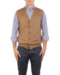 Altea Brown Wool Vest