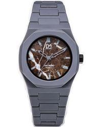 D1 Milano Grey Pvc Watch - Gray