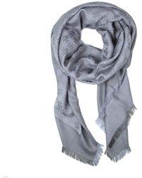 Tory Burch Wool Scarf - Grey