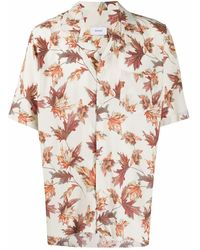 Rhude Bowlinghemd mit Blatt-Print - Weiß