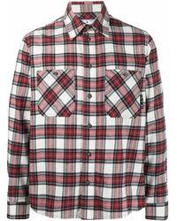 Off-White c/o Virgil Abloh Kariertes Hemd mit Logo - Rot