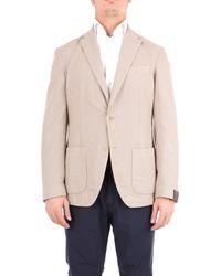 Altea Beige Cotton Blazer - Natural