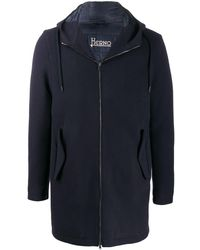 Herno Blue Wool Coat
