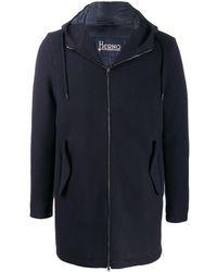 Herno Blue Wool Coat