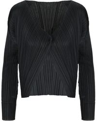 Pleats Please Issey Miyake Black Polyester Jacket