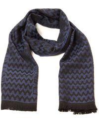 Emporio Armani Blue Wool Scarf