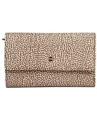 Borbonese Polyester Wallet - Natural