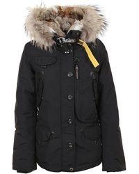 Parajumpers Polyester Coat - Black