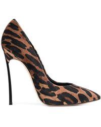 Casadei Velvet Court Shoes - Brown