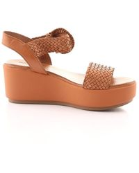 Inuovo 123035 Leather Wedges - Brown