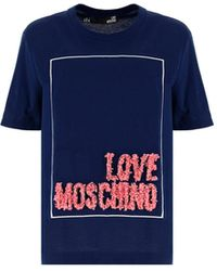 Love Moschino W4h0614m3517y58 andere materialien t-shirt - Blau