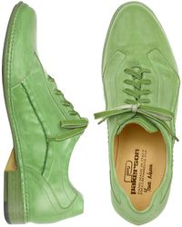 Pakerson Green Leather Lace-up Shoes