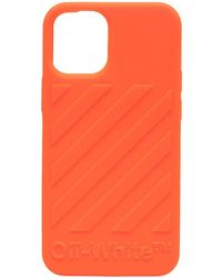 Off-White c/o Virgil Abloh Diag iPhone 12 Mini-Hülle - Orange