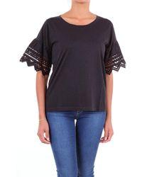 Seventy Black Cotton T-shirt