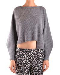 Pinko Grey Wool Jumper - Gray