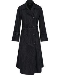Aspesi Polyester Trench Coat - Black