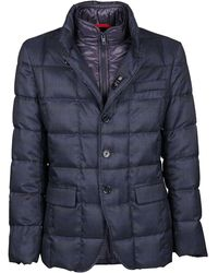Fay Blue Polyester Down Jacket