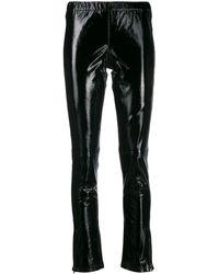 P.A.R.O.S.H. Black Leather LEGGINGS