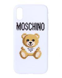 Moschino - White Polyurethane Cover - Lyst