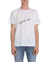 Saint Laurent White Cotton T-shirt