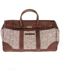 Brunello Cucinelli Wool Travel Bag - Natural