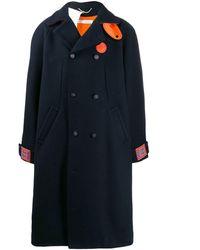 Off-White c/o Virgil Abloh Wool Coat - Blue