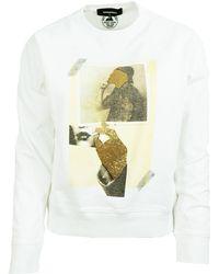 DSquared² White Cotton Sweatshirt