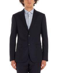 Z Zegna Blue Wool Suit