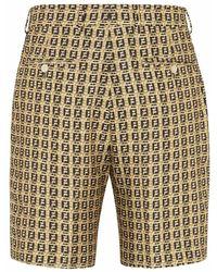 Fendi Shorts mit FF-Webmuster - Braun