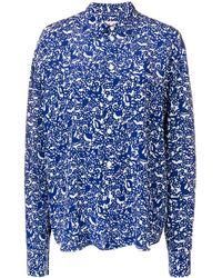 Marni Blue Silk Shirt