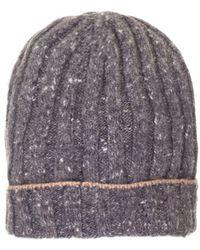 Brunello Cucinelli Grey Wool Hat - Gray