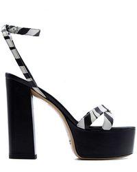 Aldo Castagna Leather Sandals - Black