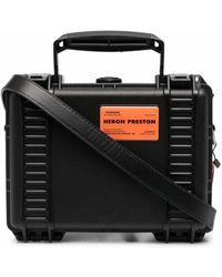 Heron Preston Polyurethane Briefcase - Black