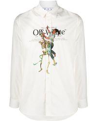 Off-White c/o Virgil Abloh Hemd mit Print - Weiß