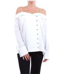 Balmain Shirts Blouses - White