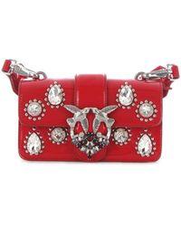 Pinko Red Leather Handbag