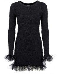 Saint Laurent Kleid für Damen Günstig im Sale - Schwarz