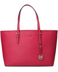 Michael Kors - Fuchsia Leather Handbag - Lyst
