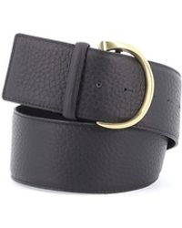 Orciani Black Pebbled Leather Belt